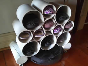 怎么做强收纳鞋架的方法 PVC塑料管制作鞋架