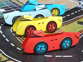 怎么做可以跑的玩具车 卡纸制作小汽车模型