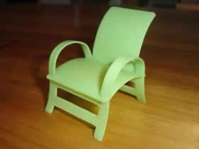 怎么做迷你椅子模型 洗洁精瓶子制作小椅子