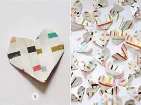 怎么折纸简单心形图解 幼儿手工爱心折叠方法