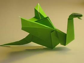 怎么折纸简单翼龙图解 儿童手工折纸立体翼龙