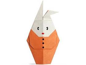 怎么折纸卡通兔子图解 幼儿手工折叠兔子教程