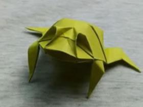 怎么折纸金蟾的方法 手工立体金蟾折法图解