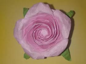 怎么折纸NS玫瑰花图解 手工NS玫瑰的折法步骤