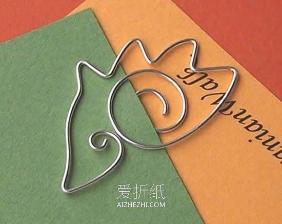 怎么做可爱小书签图片 金属丝手工制作书签- www.aizhezhi.com