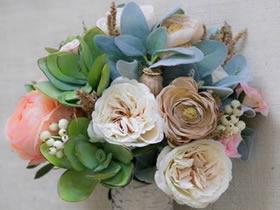 怎么做新娘手捧花图解 白枫树皮制作手捧花