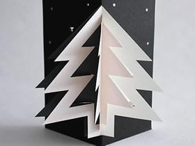 怎么做立体圣诞树贺卡 卡纸制作创意圣诞贺卡