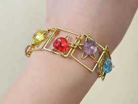 怎么做夏日清凉手链图解 铜线手工制作串珠手链