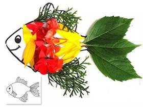 怎么做鲜花拼贴画图解 花朵手工制作拼画图片