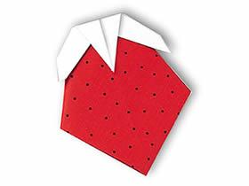 怎么简单折纸草莓图解 幼儿手工草莓的折法