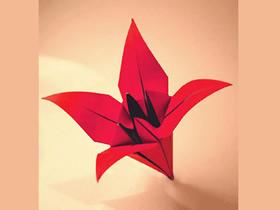 怎么简单折纸百合花 儿童手工折纸百合花图解