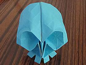 怎么折纸骷髅头图解 手工立体骷髅头的折法