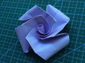 怎么简单折纸玫瑰花 最简单手工玫瑰花的折法