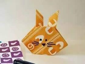 怎么简单折纸兔头图解 幼儿手工兔子头的折法
