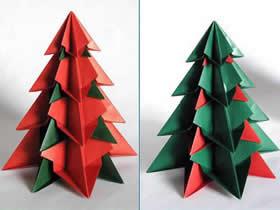 怎么折纸漂亮的圣诞树 手工立体圣诞树折法