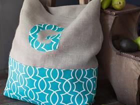 怎么做不织布手提袋图解 手工布艺购物袋制作