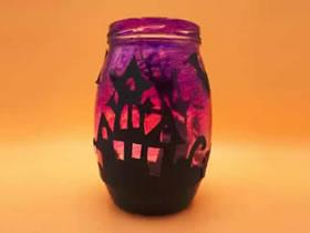 怎么做万圣节灯笼教程 玻璃瓶制作灯笼的方法