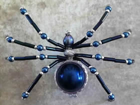 怎么做串珠蜘蛛的方法 串珠手工制作蜘蛛饰品