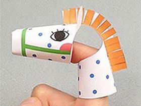 怎么做小动物手指玩偶 卡纸手工制作动物手偶