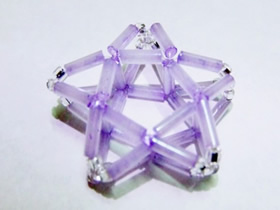 怎么做串珠五角星方法 串珠制作立体星星图解
