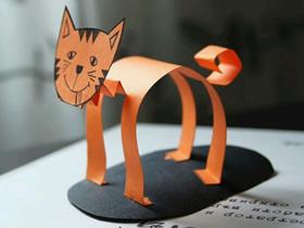怎么做立体猫咪的方法 卡纸手工制作可爱小猫