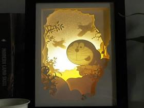 手工立体纸雕作品图片 DIY唯美的童话场景灯饰