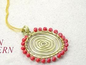 怎么做太阳花项链坠 金属丝制作向日葵项链