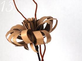 怎么做卷纸芯花的方法 卷纸芯手工制作立体花