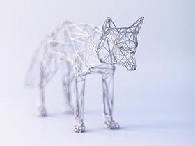精美的手工艺术品!金属丝DIY立体动物雕塑