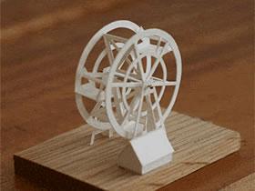 手工制作可以动的折纸模型作品图片