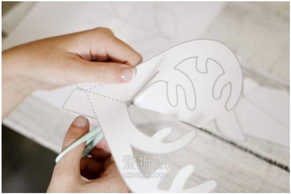 怎么做圣诞麋鹿贺卡 卡纸制作圣诞节立体贺卡- www.aizhezhi.com