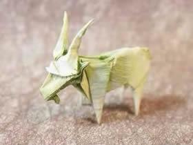 怎么折纸逼真的山羊 手工复杂立体山羊的折法