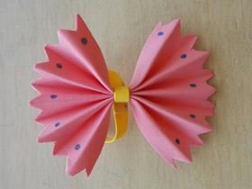 怎么简单做蝴蝶结的方法 海绵纸手工制作蝴蝶结