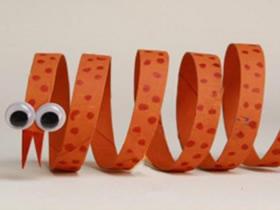 怎么做简单小蛇的方法 卫生纸卷纸芯制作小蛇