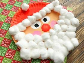 怎么做圣诞老人的方法 纸盘手工制作圣诞老人