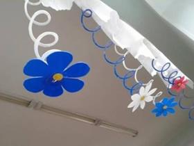 怎么做弹簧花的方法 卡纸手工制作花朵挂饰
