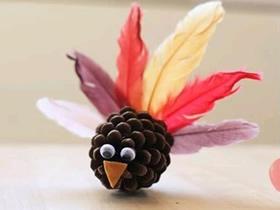 怎么做松果小鸟的方法 儿童手工制作小鸟教程
