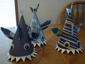 怎么做儿童鲨鱼帽子 卡纸手工制作鲨鱼帽头饰