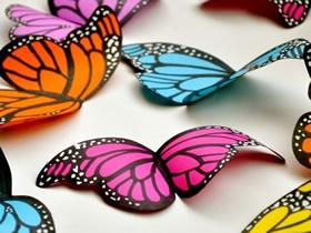 怎么简单做纸蝴蝶方法 卡纸手工制作蝴蝶教程