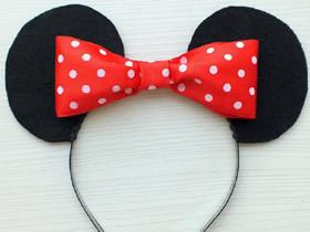 怎么做米老鼠耳朵发箍 手工布艺米老鼠发饰制作