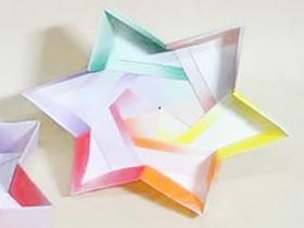 怎么折纸六角星礼品盒 手工六角纸盒子的折法