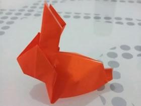怎么折纸立体的兔子 复活节兔子手工折法图解
