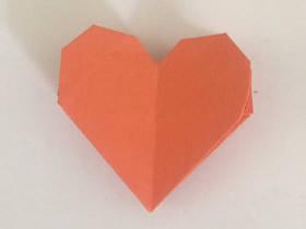 怎么折纸上下两层桃心 手工简单桃心的折法