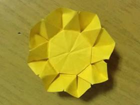 怎么简单折纸向日葵图解 儿童手工太阳花折法