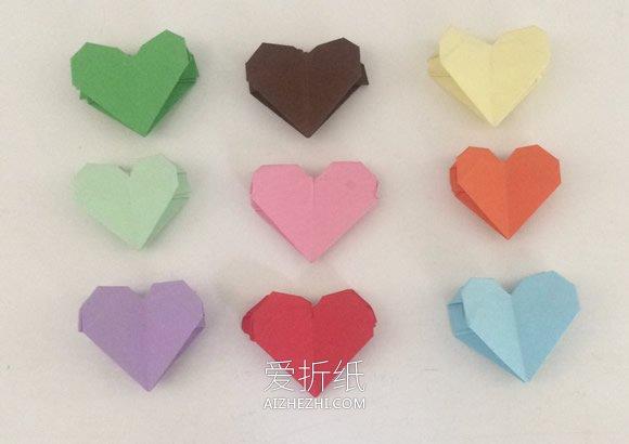 双爱心的折法_怎么折纸上下两层桃心 手工简单桃心的折法_爱折纸网