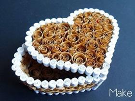怎么做衍纸爱心礼品盒 衍纸制作情人节包装盒