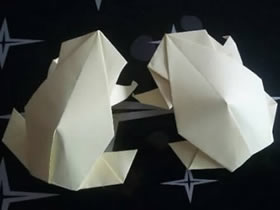 怎么折纸逼真的青蛙图解 手工青蛙的折法步骤