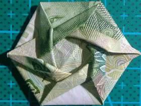 怎么折纸六角徽章的方法 一元纸币折徽章图解