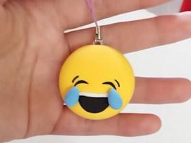 怎么做粘土笑哭表情 超轻粘土制作QQ表情小挂件