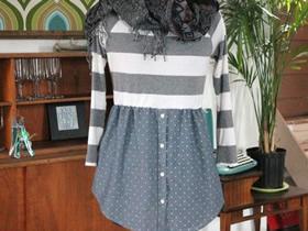 怎么改造旧衣服做包臀裙 旧衬衫T恤制作裙子